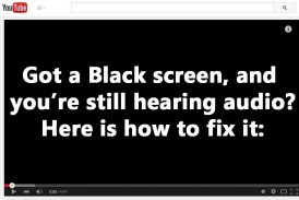 Fix Black screen playing YouTube and Adobe flash videos on Firefox